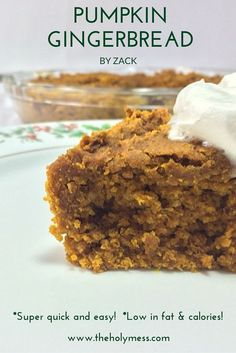 This Pumpkin Gingerbread recipe is easy, fast, low-fat, and great for kids to make. A perfect Thanksgiving or Christmas treat for kids and adults. Your family will fall in love with it!