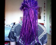 Majestic beautiful purple indigo dreads, it kind of puts me in awe and really make me want to dye my dreads purple!
