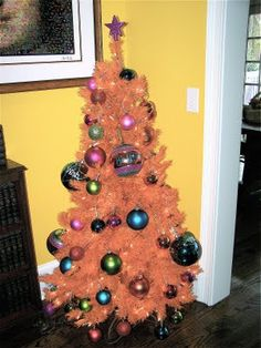 my orange christmas tree