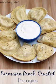 Parmesan Ranch Crusted Pierogies - Whats Cooking Love?