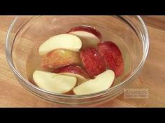 Soak sliced apples in a mixture of 2 tablespoons honey and one cup water to prevent browning for up to 24 hours