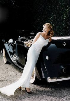 ♂ classy lady in white classy car in black Lady Katherine Heigl for Vanity Fair photographed by Norman Jean Roy for Vanity Fair.
