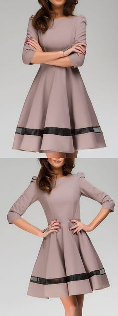 Adore this A-line dress. The sleeves and the cutout!