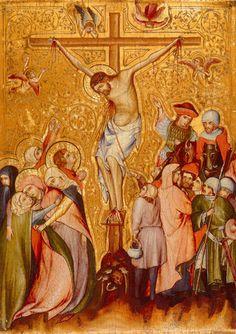 Tempera auf Holz. 33 x 24 cm.  Östliches Süddeutschland, um 1340. Zürich, Stiftung Sammlung E.G. Bührle