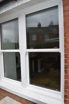 White PVC Sash Windows Kse Home Improvements Rennovation Upvc Sash Windows, Pvc Windows, House Windows, Windows And Doors, Roof Lantern, 1930s House, Window Design, House Front, Victorian Homes