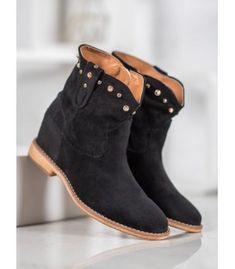 Semišové kovbojky s cvokmi Wedges, Booty, Ankle, Shoes, Fashion, Swag, Zapatos, Moda, Shoes Outlet