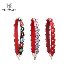 Find More Bag Parts & Accessories Information about TRUEMATE JC328 Flower Belts Ladies Bags Strap Women Bag Accessory Parts Leather Bags Belts Replacement Strap For Handbag,High Quality Bag Parts & Accessories from Bagtalk Store on Aliexpress.com