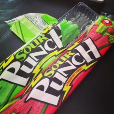 Sour punch straws <3 my favorite candy! Strawberry and apple! Oh, and watermelon!