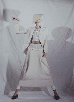 Asia Bugajska photographed by Sybille WalterStyling Samuel Driraclothes by Yohji Yamamoto circa 1992