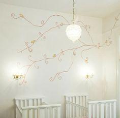 pastellfarben kutschenbett im kinderzimmer idee design mädchen, Schlafzimmer design