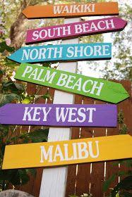 Burton Avenue: Beach Directional Sign