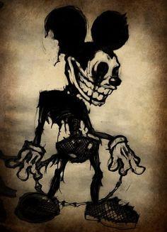 Im also a lover of creepy art Creepy Drawings, Dark Drawings, Cool Drawings, Arte Horror, Horror Art, Mickey Mouse Art, Arte Obscura, Creepy Art, Dope Art