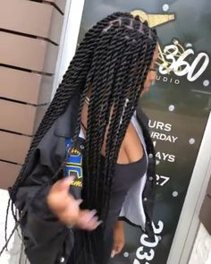 56 Dope Box Braids Hairstyles to Try - Hairstyles Trends Senegalese Twist Hairstyles, Twist Braid Hairstyles, Black Girl Braids, Braided Hairstyles For Black Women, African Braids Hairstyles, Braids For Black Hair, Girls Braids, Wig Hairstyles, Protective Hairstyles