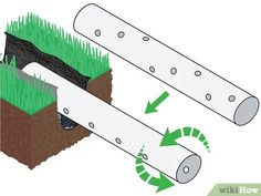 How to Build a French Drain. The French drain is a simple, yet versatile construction which can be used to drain standing water from problem areas in your yard or basement. The process is fairly simple; Backyard Drainage, Landscape Drainage, Drainage Ditch, French Drain Diy, French Drain System, Drain Français, Foundation Drainage, Pierre Decorative, Gadgets And Gizmos