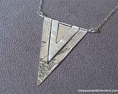 Handmade sterling silver triple arrow