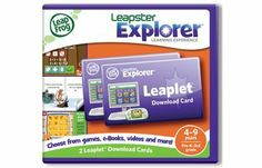 LeapFrog  Leapster Explorer Leaplet Download Cards (set of 2) by LeapFrog. $15.89. Learning apps include games, eBooks, videos and flash cards that download directly to your handheld or tablet.. Embark on more adventures! Leaplet download cards let you choose from more than 20 learning apps online that work with the Leapster Explorer handheld and LeapPad Explorer learning tablet.. Package includes 2 Leaplet download cards.. You can download 1 Leaplet learning ap...