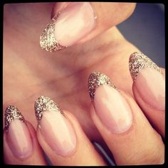 glitter nail We Heart It ❤ liked on Polyvore featuring beauty products, nail care, nail treatments, nails and nail polish