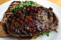 Food Wishes Video Recipes: Grilled Lamb Steaks with Minted Honey Sherry Vinaigrette - Culinary Cross-Dressing Lamb Steak Recipes, Goat Recipes, Grilling Recipes, Real Food Recipes, Cooking Recipes, Yummy Recipes, Yummy Food, Crusted Rack Of Lamb, Gastronomia