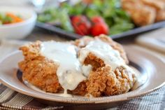 Crispy Fried Chicken with American Style Gravy