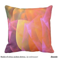 Shades of colour, modern abstract Throw Pillow