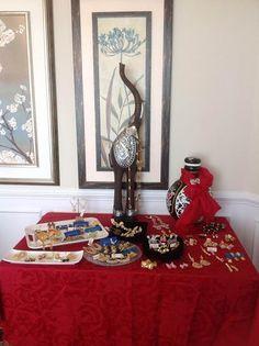 Sirjana Signature jewelry at an exhibition.