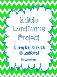 Edible Landforms Project! - Lauren Lynes - TeachersPayTeachers.com