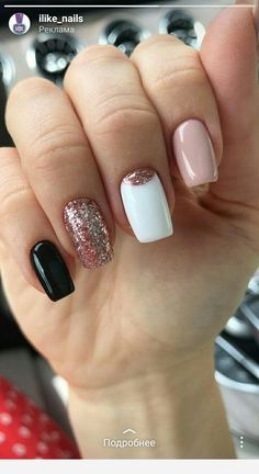 What Christmas manicure to choose for a festive mood - My Nails Aycrlic Nails, Pink Nails, Cute Nails, Gold Nails, Diy Ongles, Minimalist Nails, Best Acrylic Nails, Dream Nails, Square Nails