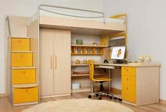 34 Bunk Bed Design Ideas With The Most Enthusiastic Desk In Interest 11