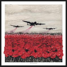 Raid Of Remembrance from the War Poppy Collection by Remembrance Artist Jacqueline Hurley Military Fine Art print Memorial Day, Tattoo Wallpaper, Remembrance Day Art, Remembrance Day Drawings, Ww1 Art, Original Art, Original Paintings, Lancaster Bomber, The Cure