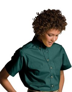 Ladies Poplin Shirt, Button down, 4.25-oz poly/cotton, pocket, 15-colors, XXS-Plus Size 3XL, Free shipping, custom logo embroidery True to Size Apparel