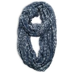 Avenue Plus Size Confetti Eternity Scarf ($20) ❤ liked on Polyvore featuring accessories, scarves, navy, plus size, infinity scarf shawl, infinity loop scarves, infinity shawl, navy infinity scarf and tube scarves