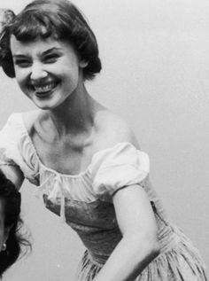 Audrey Hepburn, June 1949.