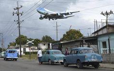 El Air Force One sobrevolando las humildes casas de Cuba el 20 de marzo de 2016. YANDER ALBERTO ZAMORA