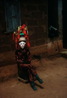 Ibusa village. The Ibusa mask is a meeting point of the spirits that dwell in the other world.