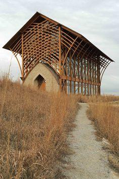Shrine of The Holy Family.  Inspired by E. Fay Jones' Thornecrown chapel (1980) in Arkansas.