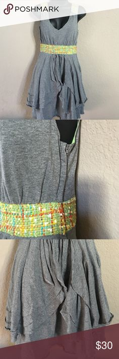 Nick & Mo Small Rare Tweed Layered Dress One of a kind!  Side zip wore once!  Beautiful!! nick & mo Dresses Asymmetrical