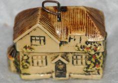 Rare Antique Celluloid House w/Trellis Figural Tape Measure