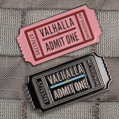 Valhalla Ticket Pins((I REALLY REALLY REALLY WANT ONE))