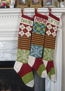 The inspiration for the New Ancestral Christmas Stocking came into Ann's life many years ago as a tattered xerox of a mimeograph of a cuneiform stone-incised recipe for an oversized stocking, complete with intarsia image of a lumpy Santa.