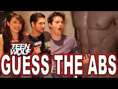 """""""Teen Wolf"""" Guess the Wolf Abs Quiz with Tyler Posey, Dylan O'Brien & Crystal Reed - YouTube"""
