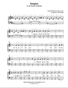 Imagine by John Lennon Piano Sheet Music | Rookie Level