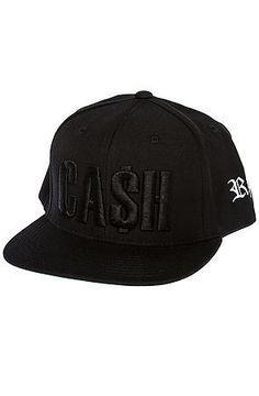 9c67cc82f81 Cash Snapback (Black on Black) Snap Backs