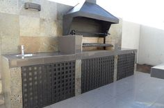Outdoor Kitchen Patio, Outdoor Kitchen Design, Outdoor Fire, Outdoor Rooms, Outdoor Living, Parrilla Exterior, Outdoor Grill Station, Barbecue Design, Modern Mansion