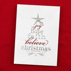 Tree of Words Holiday Card - Personalize yours and SAVE 30% now! #HolidayCards
