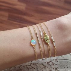 Layering bracelets by ATELIER Gaby Marcos