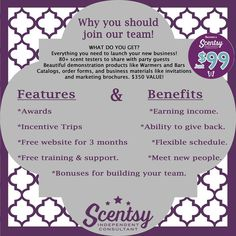 Join my Scentsy team for just $99. https://yvonnesanya.scentsy.us/Enrollment/Join