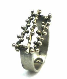 Sterling silver granulation ring by applenamedD on Etsy