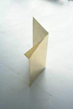 Elva Olafsdottir  2011 // A letter to Brancusi // Folded sheet of brass