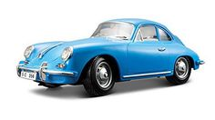 Bburago 1:18 Scale 1961 Porsche 356B Cabriolet Diecast Vehicle (Colors May Vary)