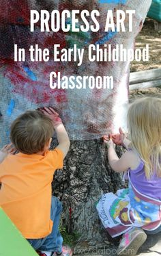 Does process art have a place in the early childhood classroom? Most definitely! Here is how process art stimulates all domains of child development. Kindergarten Art, Preschool Art, Early Education, Early Childhood Education, Ec 3, Creative Curriculum, Teaching Art, Teaching Resources, Process Art